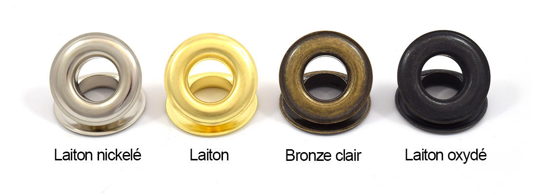 oeillets laiton metal nickel pour presse pour b che. Black Bedroom Furniture Sets. Home Design Ideas