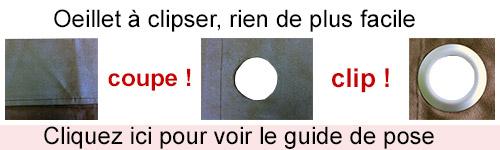 Anneaux Rideaux A Clipser.Oeillets Rideaux Clipsable