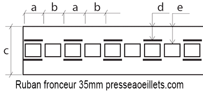 Ruban fronceur ruflette 35mm