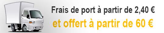 Frais de port offert à partir de 60 € ttc